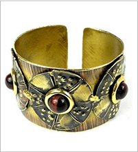 Brass Tiger Eye Cuff bracelet