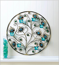Peacock Plumes Wall Hanging